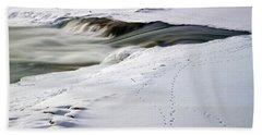 Winter Tracks Bath Towel by Eric Nielsen