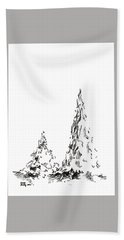 Winter Trees 2 - 2016 Hand Towel