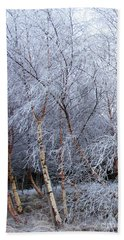 Winter Trees Hand Towel by Jacqi Elmslie