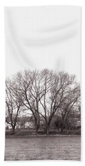 Winter Trees Monochrome Hand Towel