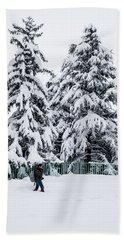 Winter Trekking Hand Towel