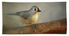 Winter Tufted Titmouse Hand Towel