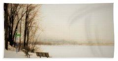 Winter View Over Montreal Bath Towel