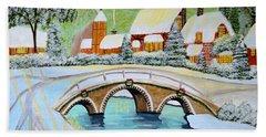 Winter Village Hand Towel by Magdalena Frohnsdorff