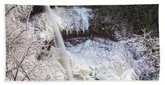 Winter Waterfalls Hand Towel