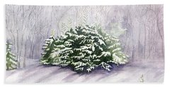 Bath Towel featuring the painting Winter Wind by Melly Terpening