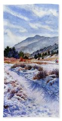 Hand Towel featuring the painting Winter Wonderland by Anne Gifford