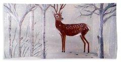 Winter Wonderland - Painting Bath Towel