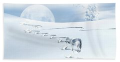 Winter Wonderland - Wolf Bath Towel