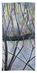 Bath Towel featuring the painting Winterlude by Shadia Derbyshire