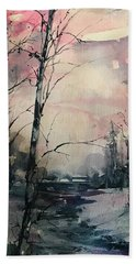 Winter's Blush Bath Towel by Robin Miller-Bookhout