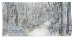 Hand Towel featuring the painting Winter's Day by Robin Maria Pedrero