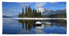 Winters Mirror Hand Towel by Lynn Hopwood