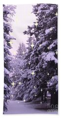 winter's Path Hand Towel