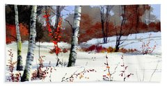 Wintertime Painting Hand Towel