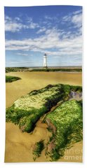 Hand Towel featuring the photograph Wirral Lighthouse by Ian Mitchell