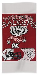 Wisconsin Badgers Hand Towel by Jonathon Hansen