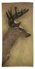 Wisconsin White Tail Buck Sketch Hand Towel