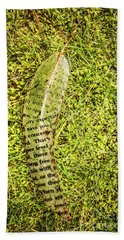 Wisdom In Nature Hand Towel