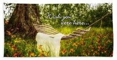 Wish You Were Here 140629 Postcard Style Hand Towel