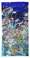 Bath Towel featuring the painting Wishes by Fabrizio Cassetta