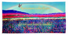 Wishing You The Sunshine Of Tomorrow Bereavement Card Hand Towel by Kimberlee Baxter