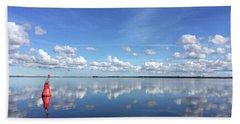 Wismar Bay In Fall Bath Towel