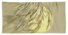 Wispy Sunset-1 Hand Towel by Nina Bradica