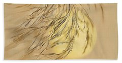 Bath Towel featuring the digital art Wispy Sunset-2 by Nina Bradica