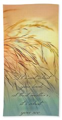 Wispy Sunset-7 Bath Towel by Nina Bradica