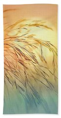Wispy Sunset Bath Towel by Nina Bradica