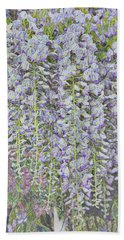 Bath Towel featuring the photograph Wisteria Before The Hail by Nareeta Martin