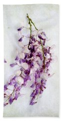Wisteria Still Life Hand Towel by Louise Kumpf