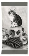 Witch's Kittens Bath Towel
