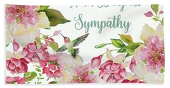 With Deepest Sympathy Greeting Card Hand Towel
