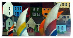 With The Wind In Kinsale, West Cork Hand Towel