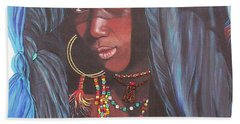 Virtuous Wodaabe Girl          From The Attitude Girls  Bath Towel