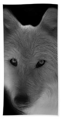 Wolf - Black And White Hand Towel