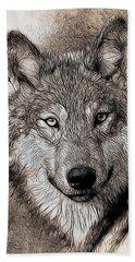 Bath Towel featuring the digital art Wolf  by Aaron Berg