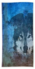 Wolf And Raven Hand Towel