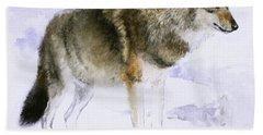 Wolf Bath Towel