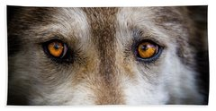 Hand Towel featuring the photograph Wolf Eyes by Teri Virbickis