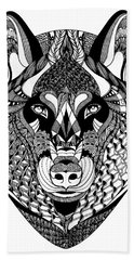 Wolf Bath Towel by Jan Steinle
