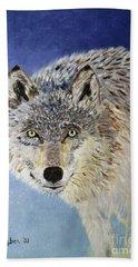 Wolf Study Hand Towel