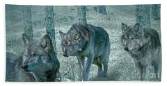 Wolf Trio Bath Towel