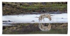 Wolflection Bath Towel by Steve Stuller