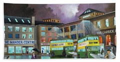 Hand Towel featuring the painting Wolverhampton Trolley Bus Terminus by Ken Wood
