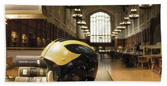 Wolverine Helmet In Law Library Bath Towel