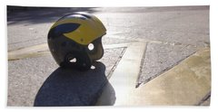 Wolverine Helmet On The Diag Bath Towel