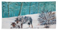 Wolves In The Wild Hand Towel